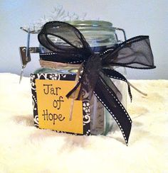 "Jar of Hope | Simply Love >> What better way to encourage others and offer hope with a ""Crafty"" and Creative ""Jar of Hope"" :)"