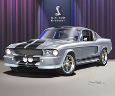 And the sexiest car in the world. 1967 Mustang Shelby GT500 a.k.a Eleanor