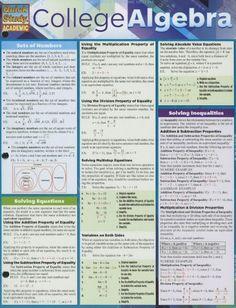 College Algebra (Quick Study Academic) by Inc. BarCharts http://www.amazon.com/dp/1423220315/ref=cm_sw_r_pi_dp_1-FStb1DBBCFJTB6 $5.35
