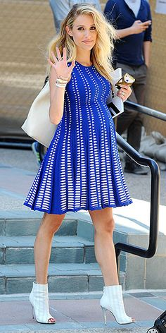 Forget Flats! Stars Are Pregnant in Heels | KRISTIN CAVALLARI | We wouldn't expect anything less than high heels from the Chinese Laundry shoe designer and reality star, who welcomed her second son, Jaxon, with husband Jay Cutler on May 7. In fact, just one month before giving birth, Cavallari donned an edgy royal blue babydoll dress with white peep-toe booties at the E! studios in L.A.