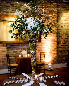 How do you feel about tall centerpieces? Too much or super elegant?