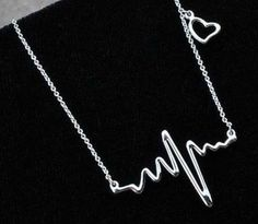 My Heart Beats for You! Heart Beat Love Necklace