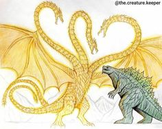 All Godzilla Monsters, Godzilla Comics, Legendary Dragons, Monster Drawing, Fantasy Monster, Creature Concept, Fantasy Creatures, Venom, Animal Drawings