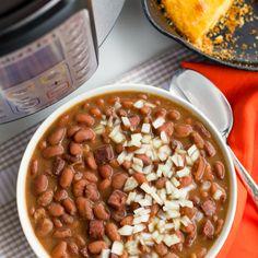 Instant Pot Pinto Beans - A Southern Soul Ham And Pinto Beans Recipe, Fresh Bean Recipe, Pinto Bean Recipes, Instant Pot Dinner Recipes, Side Dish Recipes, Side Dishes, Easy Recipes, Delicious Recipes, Instapot Beans