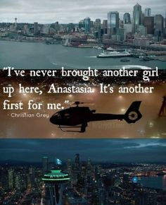 Fifty Shades Second Trailer Skyline Stills with Quote
