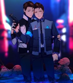DBH: Calm down, Connor. by Dessa-nya on DeviantArt Detroit Become Human Game, Stupid Human, Becoming Human, Drawing Games, Precious Children, My Little Baby, Quantic Dream, Memes, Amazing Art