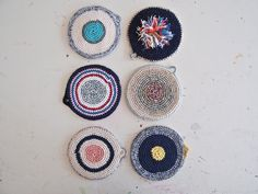 Crocheted potholders @ at-swim-two-birds