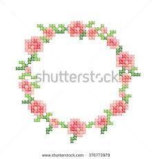 cross stitch flowers border ile ilgili görsel sonucu
