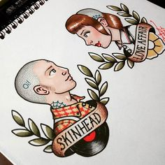 .Skinhead Love Affair. Print available in my etsy shop (link at the bio) and available for a tattoo (contact with me) . . . . . #illustration #draw #tattoo #chelsea #england #tattoos #traditional #instagood #oldschooltattoo #drawings #drawing #ink #art #instaart #promarker #streetart #stickers #fredperry #fineart #creative #doodle #artbook #illustagram #skingirl #skinhead #skinbyrd #modstyle #mod #oldschool #sketch
