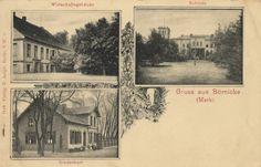 AK Gutshof und Schloss Börnicke (vor dem Umbau durch Bruno Paul) um 1900