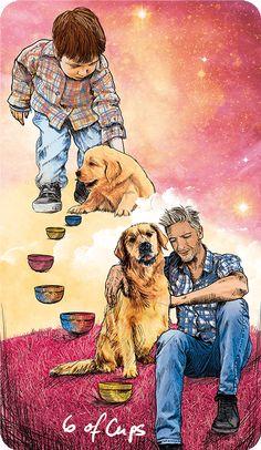Light Seer's Tarot Meanings 6 of Cups – The Light Seer's Tarot // Chris-Anne // Tarot Cards and Meanings Tarot Significado, Tarot Card Meanings, Angel Cards, Kawaii, Oracle Cards, Animal Tattoos, Surreal Art, Tarot Decks, Archetypes