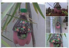 Great idea for the kids to make. Bird house out of a soda bottle