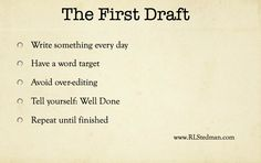 A word limit every day.  I need to do this.  And then stick with it.  Getting published won't happen by accident.