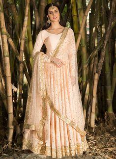 Blush Sequins Embellished Anarkali