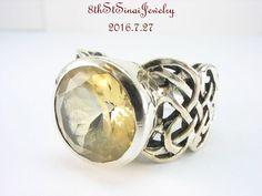 RARE R1425 Retired Silpada Celtic Braid Citrine Sterling Silver Ring Size 8.25  #Silpada #Statement #AnniversaryBirthdayEveryday