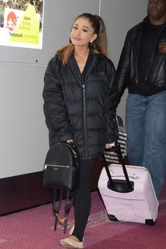 Courtney Cox In Black The North Face Nuptse Down Jacket