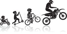 Illustration about Conceptual composition of Motocross racer s childhood activity. Illustration of person, evolution, active - 55340847 Motorcycle Stickers, Bike Stickers, Motorcycle Art, Bike Art, Motocross Tattoo, Motocross Logo, Logo Moto, Evolution, Bike Drawing