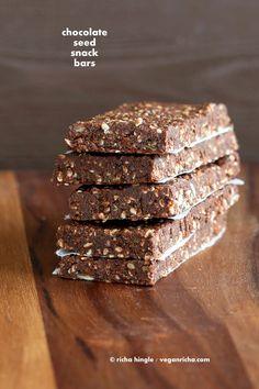 Super Seed Chocolate Protein Bars. Vegan Glutenfree Recipe - Vegan Richa