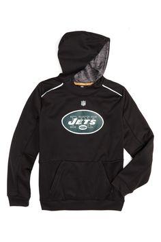 'Pinnacle - New York Jets' Graphic Tek Warm Hoodie (Big Boys)