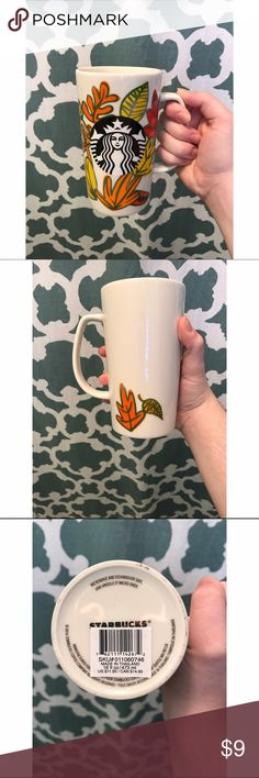 1 left🍂NWT Starbucks fall mug🍂 never been used. Starbucks 16oz fall mug. perfect for cool days and hot coffee☕️ there are 2 available. price is for 1. comes from a smoke free, pet friendly home! 🚫NO TRADES! *pink for views* PINK Victoria's Secret Accessories