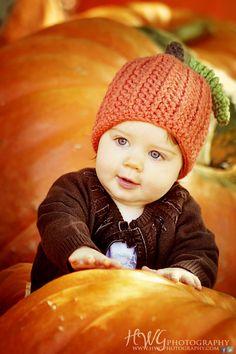 Crochet Baby Pumpkin Beanie