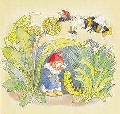 Ida Bohatta's wonderful work here has bees.  I have more under Illustrations.