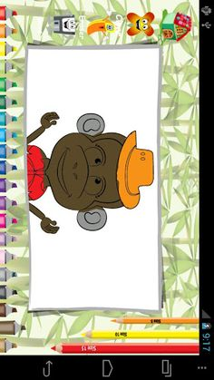 Blast colors to make this jumping monkey a fashion icon. Have a blast with fashion freak crazy monkey coloring.The naughty jumping monkey would love to become a fashion icon. It's a fashion story having amazing collection of colors around him. He finds himself incomplete and angry in the jungle woods without the colors, so find the best colors for him to show your creativity skills when you play with color combinations. It's a coloring book for kids where they can put colors in the black ...