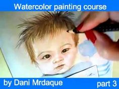 REALISTIC PORTRAIT OF JAPANESE baby,part 3-WATERCOLOR LESSON/日本人の赤ちゃんポートレート - 水彩画 - YouTube