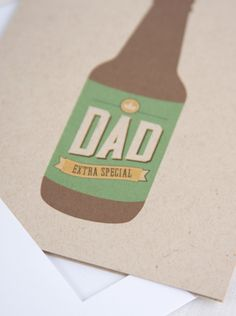 Fathers Day Card / Extra Awesome Beer Bottle / 2 Options / A2 Card. $5.00, via Etsy. #happyfathersday #fordad #beer