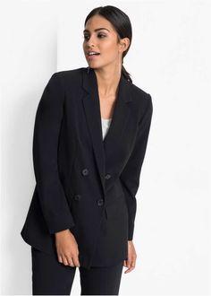 Blazer für Damen in vielen Designs für jeden Anlass   bonprix Blazer Jeans, Maite Kelly, Kinds Of Fabric, Flirt, Black Suits, Outfit, Blazers, Suit Jacket, Cotton