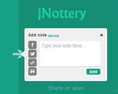 jNottery – Add Notes and Markers to Webpages  #jQuery #note #marker #webpage #ff #follow