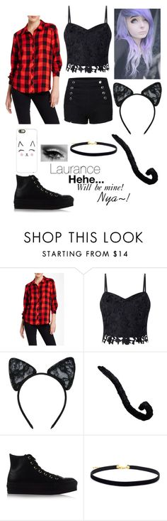 """""""Michi from MCD Cosplay (MyStreet Version)"""" by kittykatkenna ❤ liked on Polyvore featuring Kensie, Lipsy, Maison Close, Converse and Casetify"""