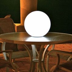"Ball Rechargeable Light, Pearl, 10"" Dia, with Remote - contemporary - outdoor lighting - Home Infatuation"