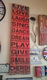 beautiful use of rustic barn boards
