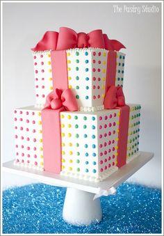 Beautiful present cake