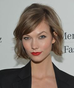 Try a textured and wavy bob like Karlie Kloss for prom!