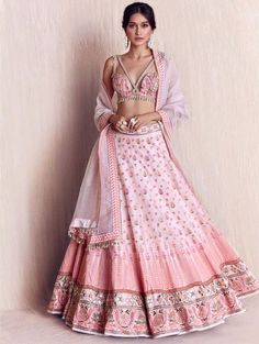 15 Most Trending Bridal Lehenga Designs of 2020 Indian Bridal Outfits, Indian Designer Outfits, Designer Dresses, Indian Designers, Fashion Weeks, Lakme Fashion Week, Indian Lehenga, Lehenga Choli, Pink Lehenga