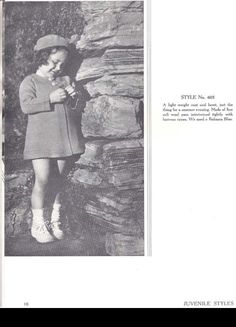 Girl's knitting Pattern  Girl's coat and by SleepingDoePatterns