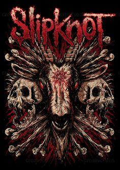 Slipknot Merchandise Graphic by Yvdharest on CreativeAllies.com
