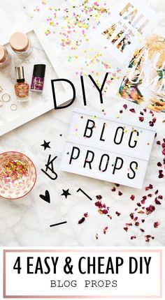 Want to create some unique blog props? Here are 4 super easy projects you will want to try out!