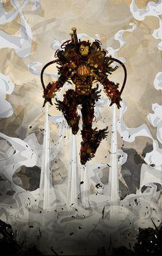 Steampunk Iron Man by ChasingArtwork.deviantart.com