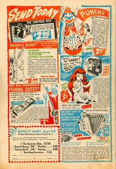 Send Today | Monster Size Ghost: vintage / retro comic book ads 1940s 1950s 1960s 1970s
