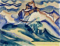 August Babberger Küstenlandschaft 1919 Abstract, Artwork, Painting, Switzerland, Painting Art, Summary, Work Of Art, Auguste Rodin Artwork, Artworks
