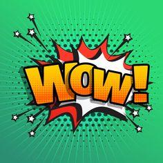 wow comic text sound effect speech bubble in retro pop style art Retro Kunst, Schrift Design, Comic Text, Les Fables, Retro Pop, Comic Styles, Free Vector Art, Famous Artists, Graffiti Art