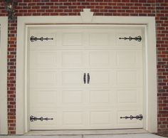Doors The Best Garage Door Decorative Hardware In Your House With A Good  Wood In The Garage And White Color That Looks So Pretty On The Decor Door  Also ...