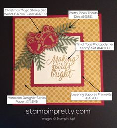 Stampin' Up! Flurry of Wishes Christmas Card 2016-2018 Dapper ...
