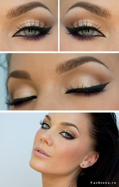 Purple liner on the bottom.  This is pretty much my every day look.