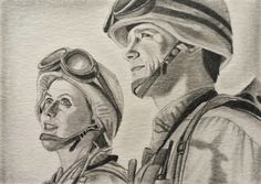 Stargate SG1 Jack O'Neill Anderson & Sam Carter Amanda Tapping ACEO Sketch Card