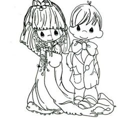 precious moments wedding coloring pages - photo#24