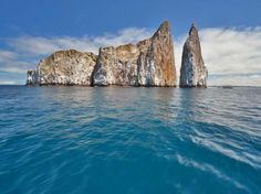 Kicker Rock is located about an hour off of Isla San Cristobal, in Ecuador.